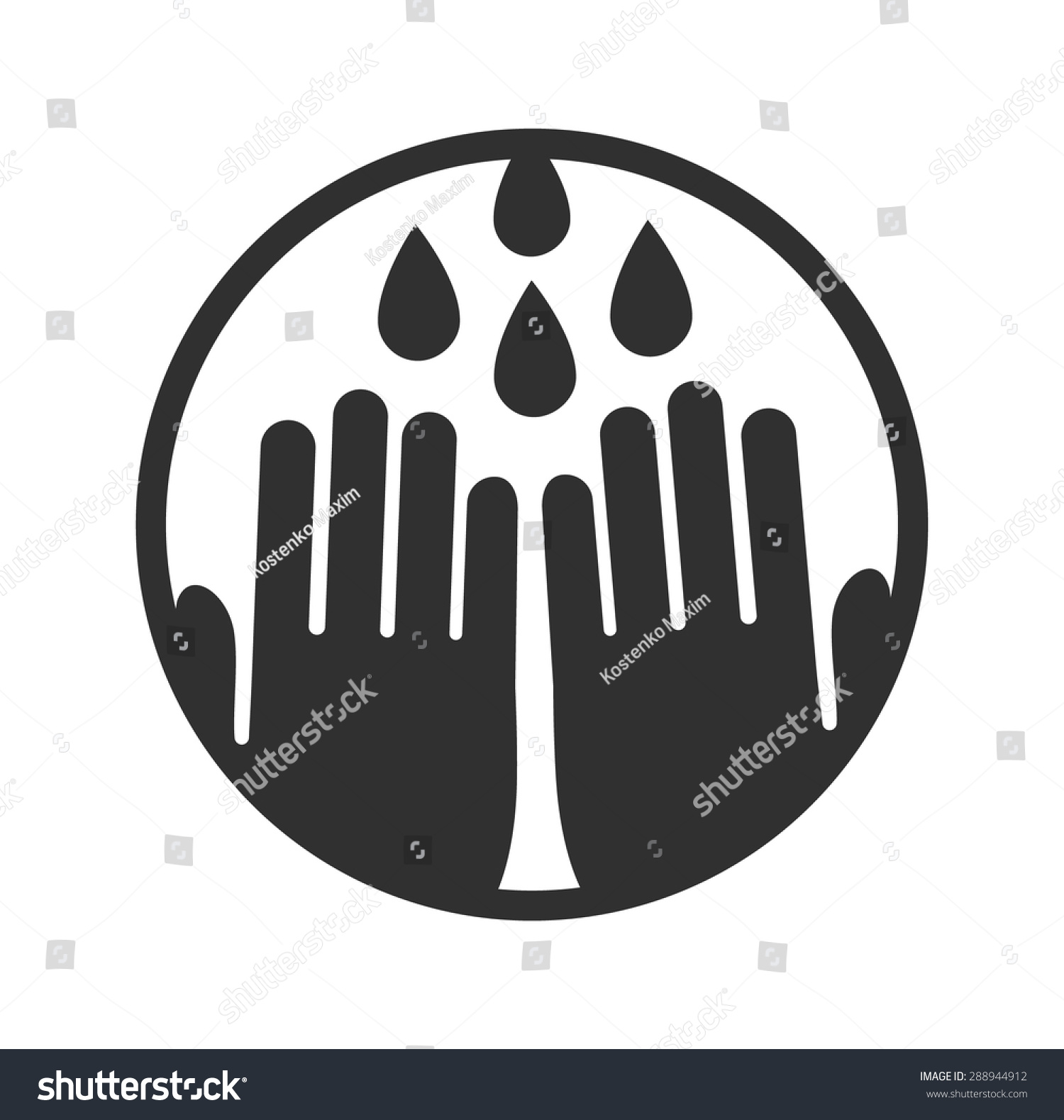Wash Your Hands Symbol Vector Illustration Stock Vector Royalty