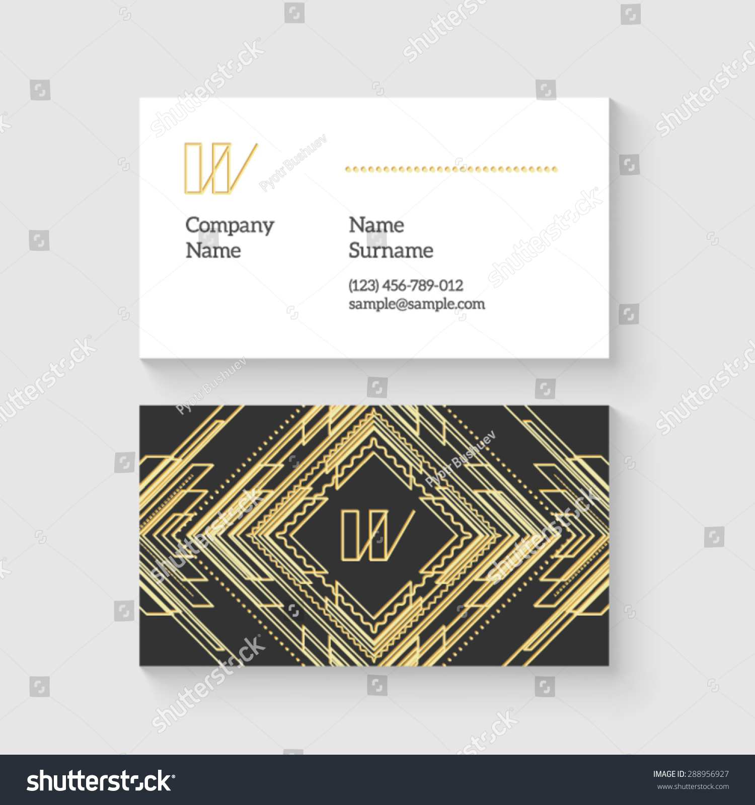 Luxury Art Deco Business Card Gift - Business Card Ideas - etadam.info