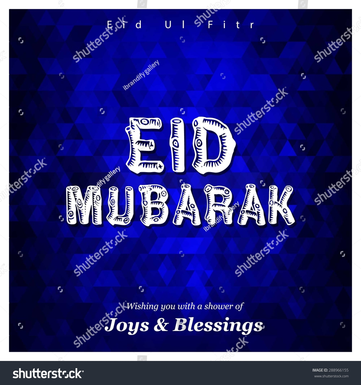 Joys blessings eid mubarak vintage greeting stock vector 288966155 joys blessings eid mubarak vintage greeting card template kristyandbryce Image collections