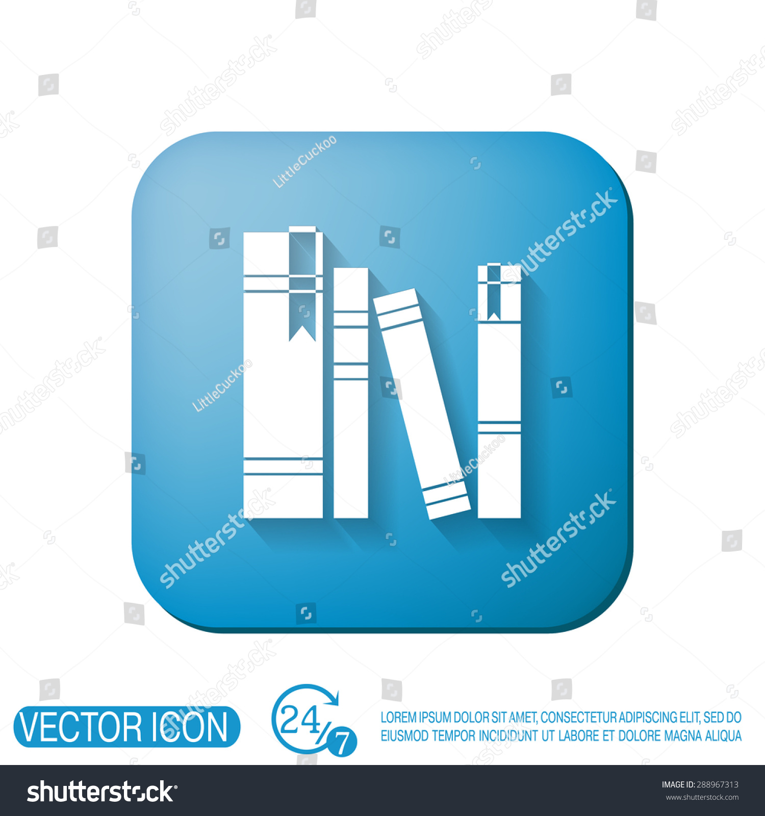 Book Spine Spines Books Icon Symbol Stock Vector 288967313