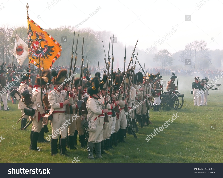 Raszyn April 18 Participants Austrian Infantry Stock Photo