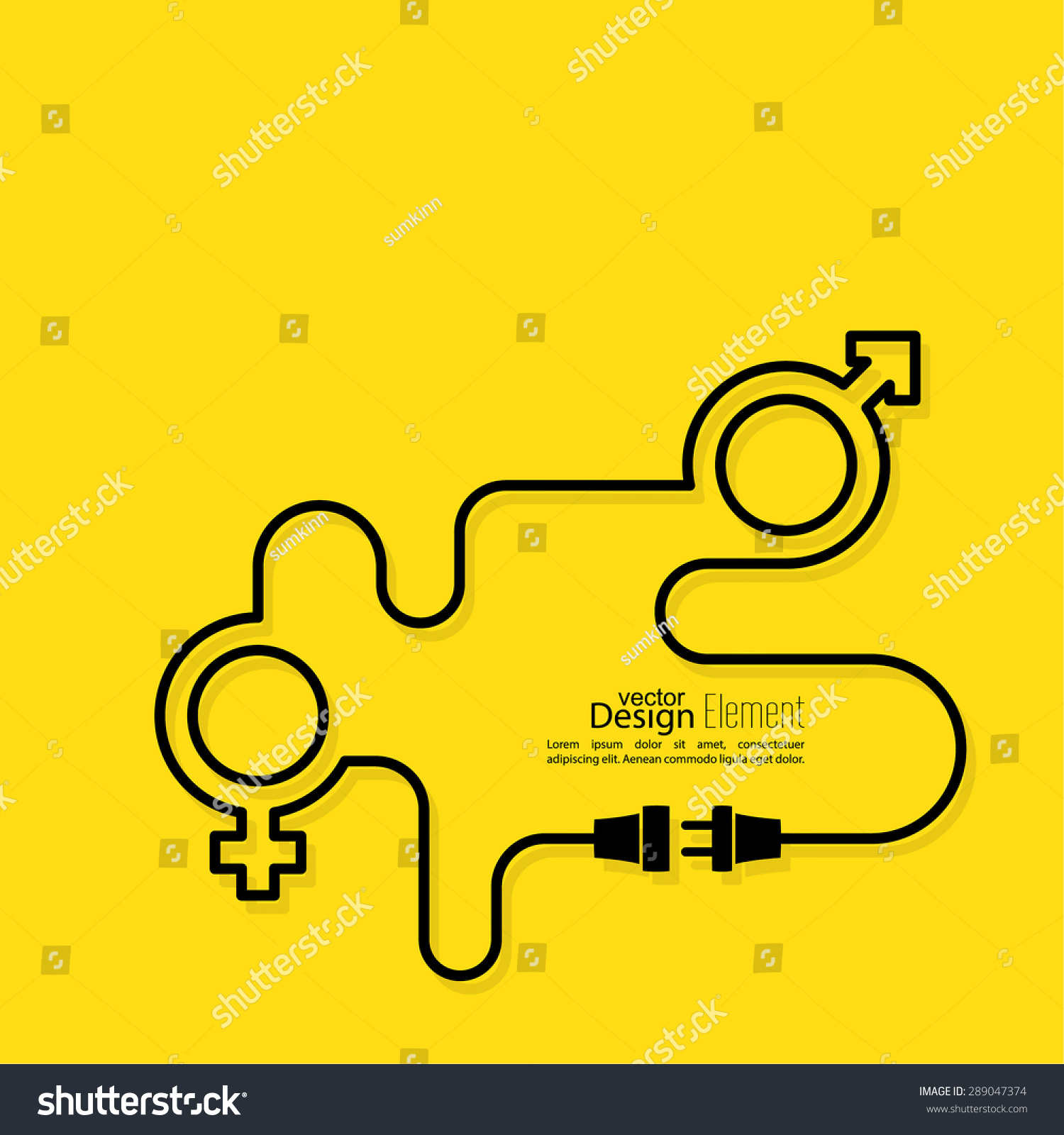 Abstract background male female symbols wire stock vector 289047374 abstract background with male and female symbols with wire plug and socket create relationship biocorpaavc Choice Image