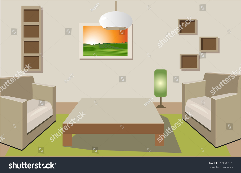 Flat interior design stock vector 289083191 shutterstock for Interior design pricing strategy