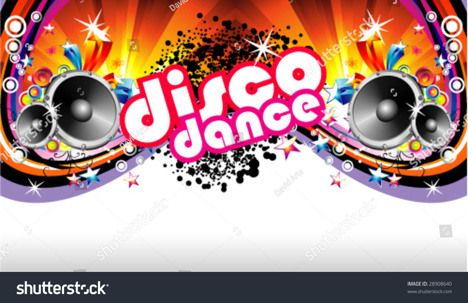 Vector Disco Dance Music Colorful Background Stock Vector ...