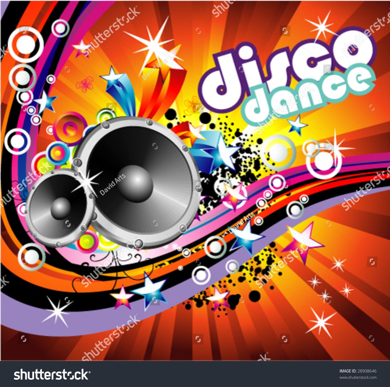 Vector Disco Dance Music Colorful Background Stock Vektor ...