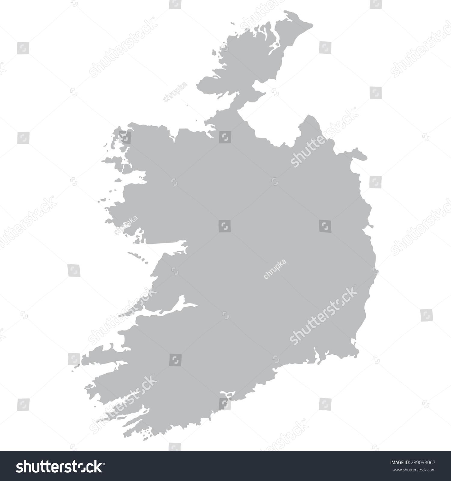 grey map ireland stock vector 289093067 shutterstock