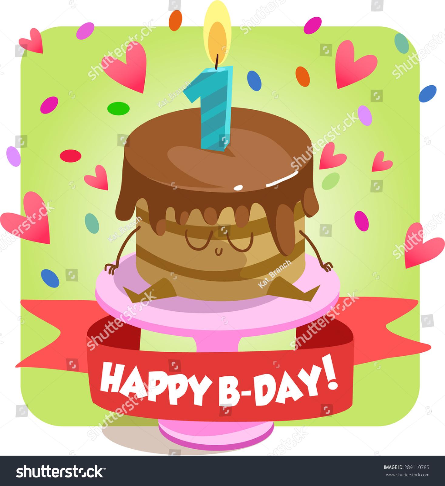 Greeting Card Happy Birthday Jolly Good Stock Vector