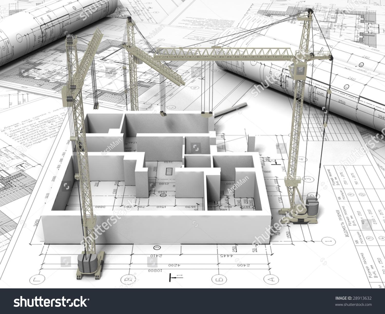 3d Plan Drawing Stock Photo 28913632 Shutterstock