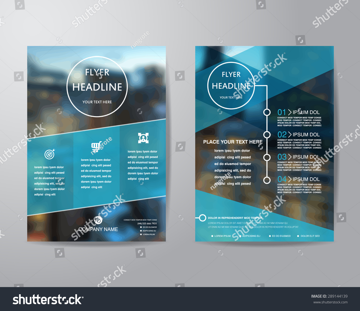 Business brochure flyer design layout template stock for Custom brochure design