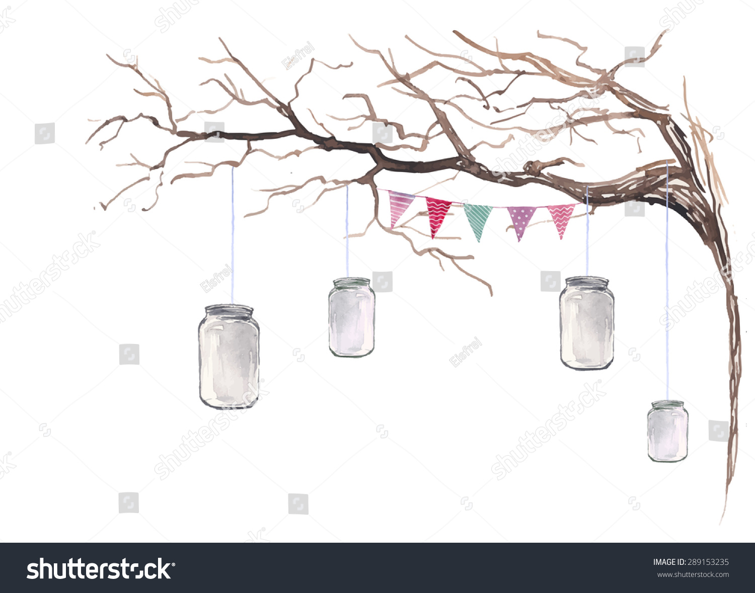 White Tree Branch For Party Decor