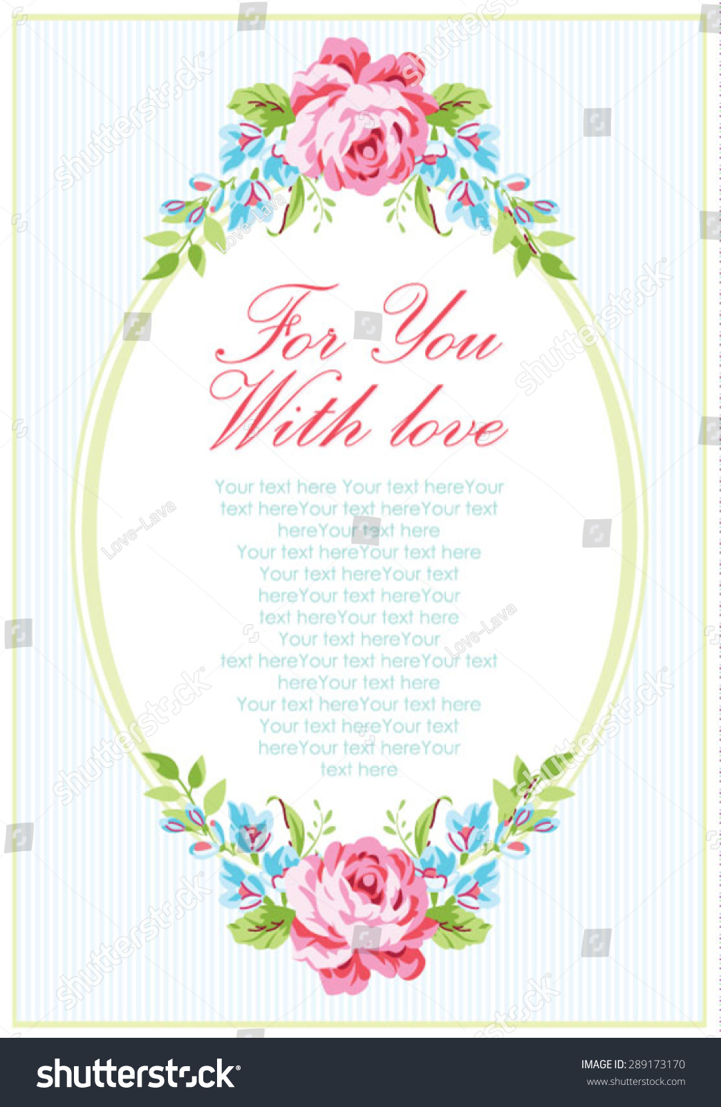 Wedding Invitation Card Template Garden Pink Stock Vector ...