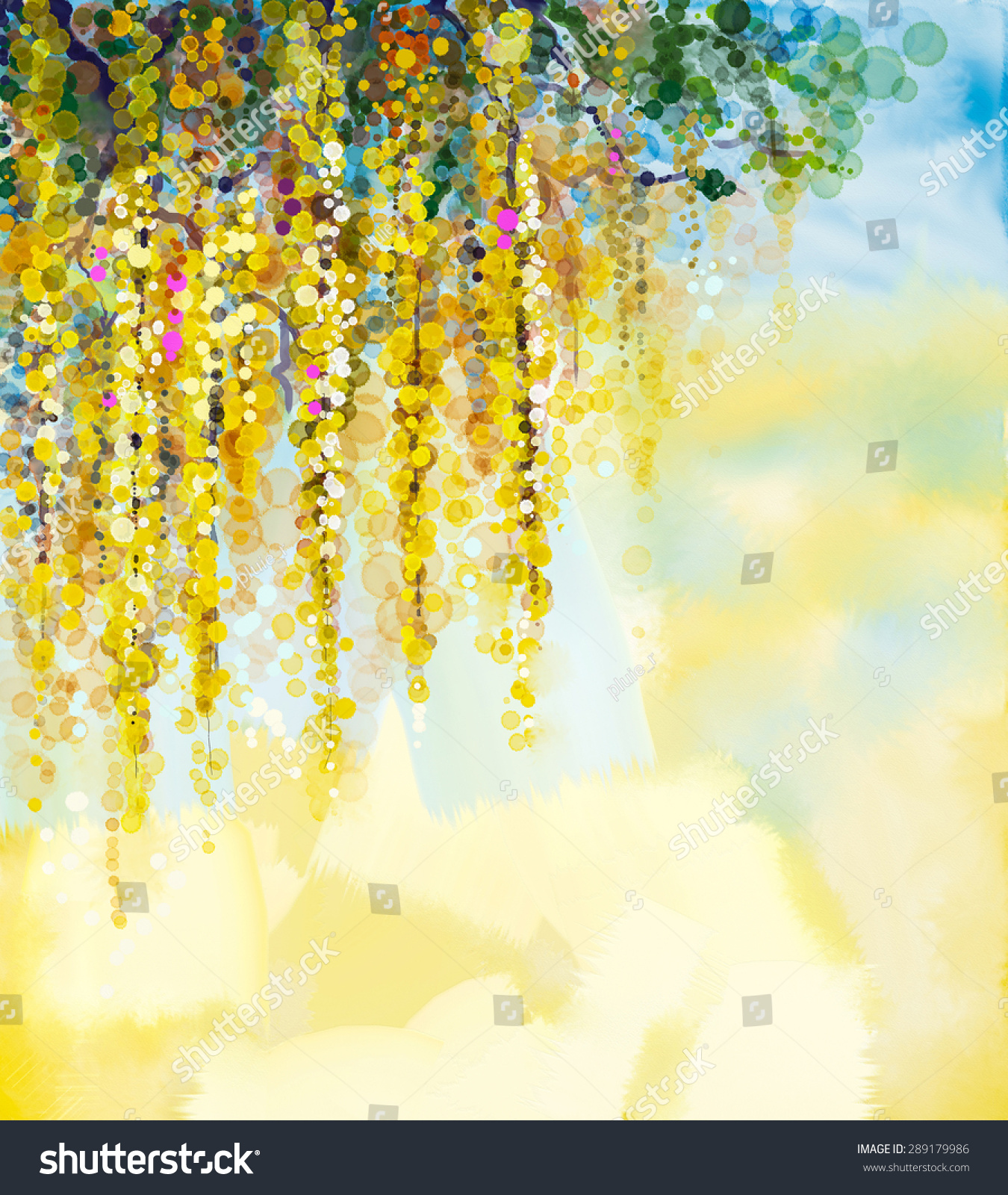 Royalty Free Abstract Flowers Watercolor Painting 289179986 Stock