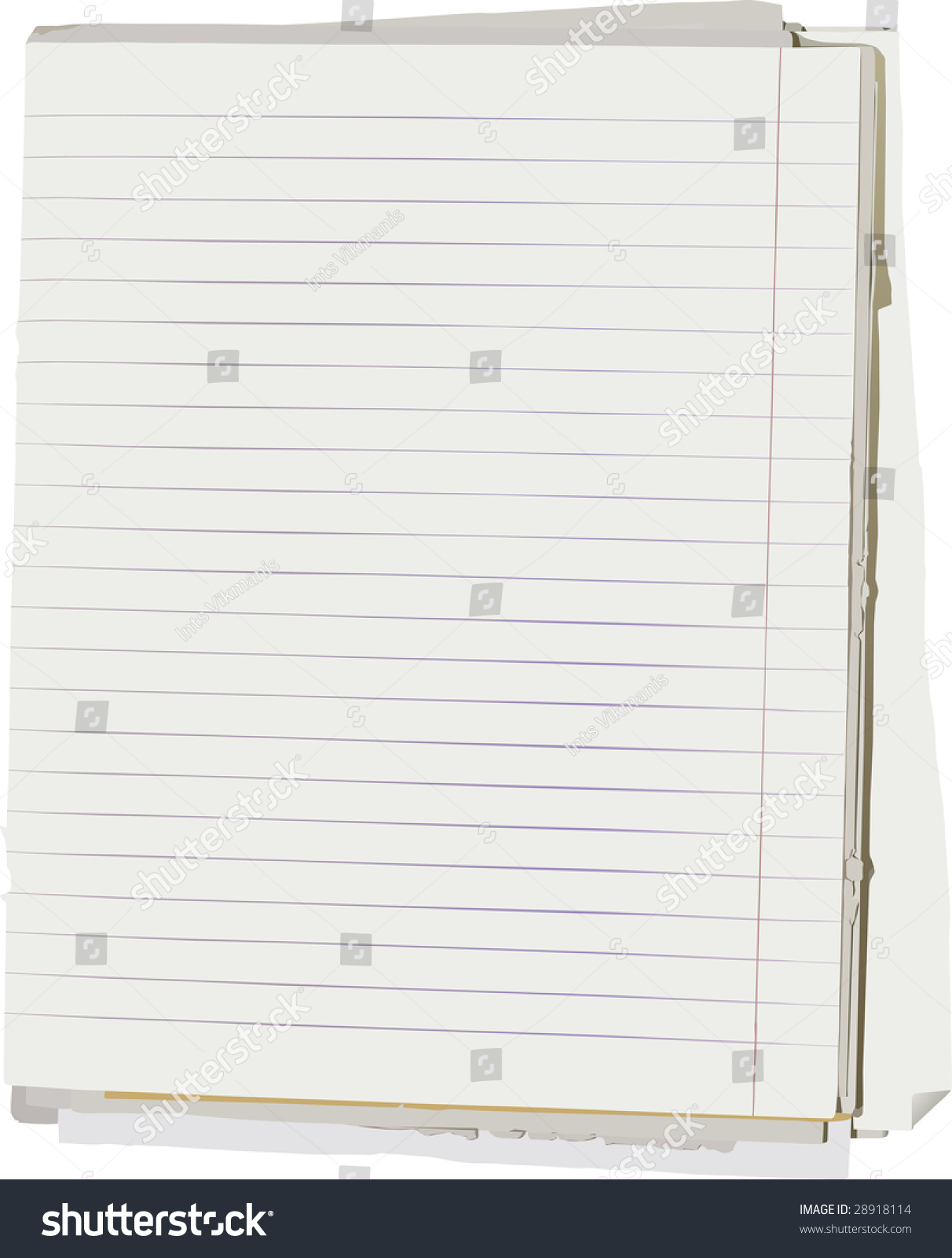 Doc500386 Notepad Paper Template Free Printable Notebook – College Ruled Paper Template