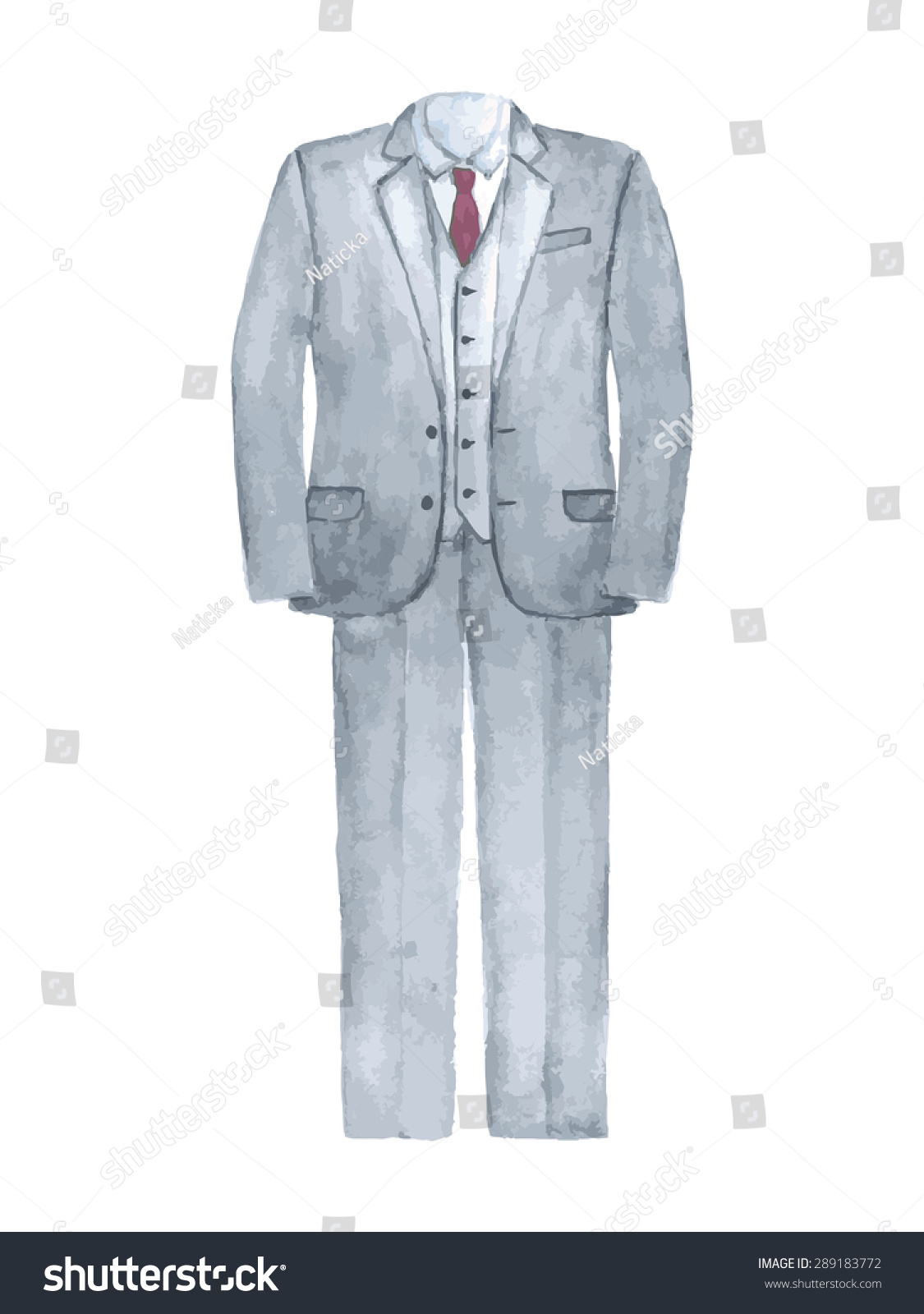 Male Clothing Suit Wedding Suit Stock Illustration 289183772 ...