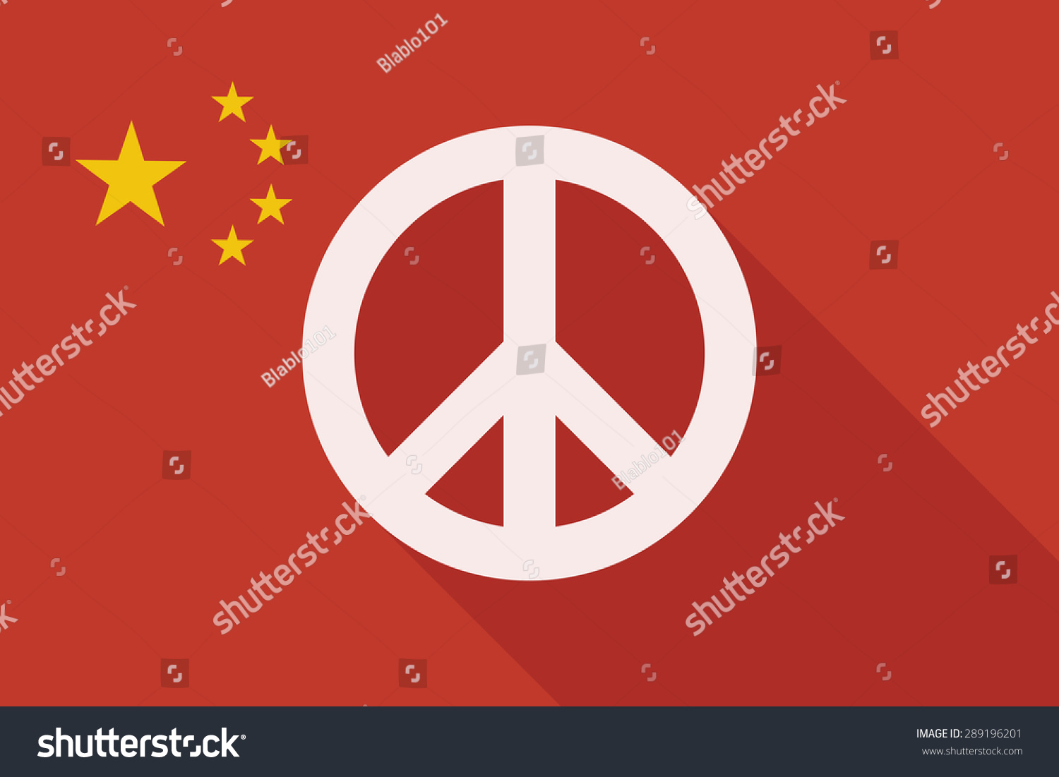 Illustration china long shadow flag peace stock vector 289196201 illustration of a china long shadow flag with a peace sign biocorpaavc