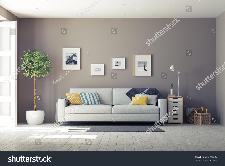 Modern Interior3d Design Concept