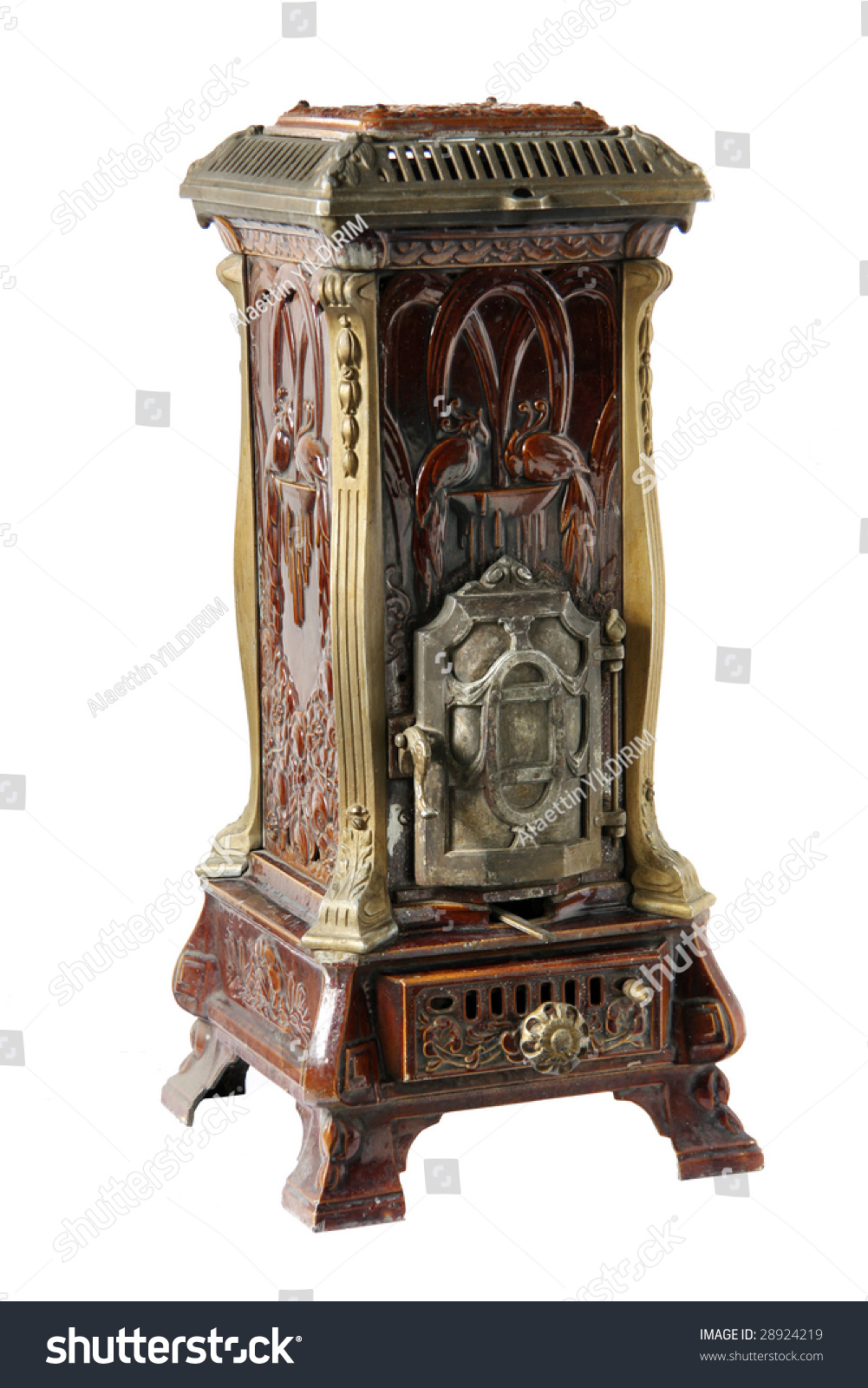 Antique Woodburning Stove Preview. Save to a lightbox - Antique Woodburning Stove Stock Photo 28924219 : Shutterstock