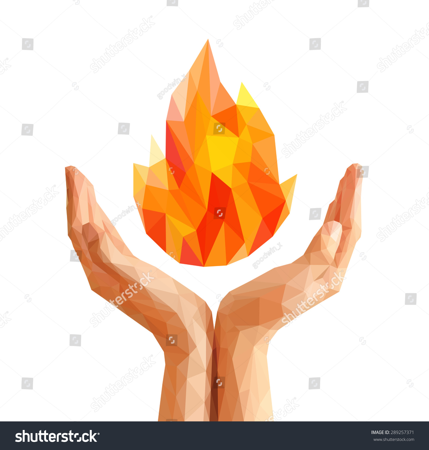 Polygon Olympic Flame Torch Flame Natural Stock Vector 289257371 ... for Olympic Torch Fire  59jwn