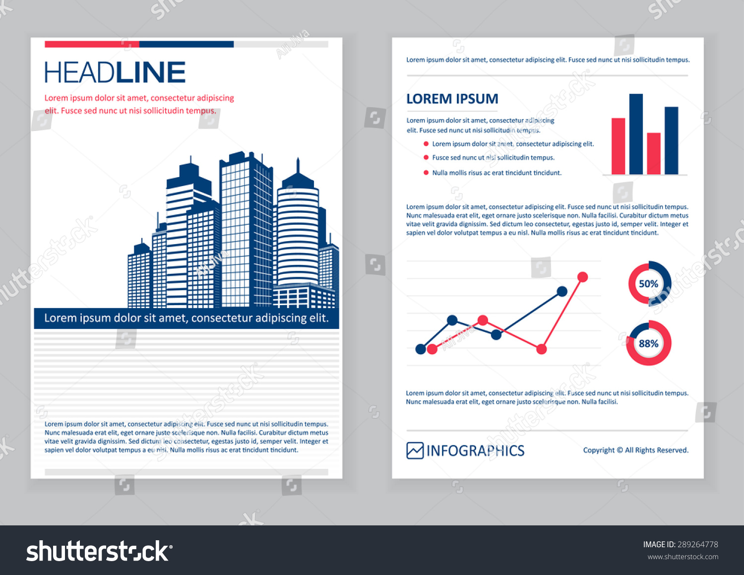 Creative Brochure Template Design Infographic Chart Vector – Pamphlet Layout Template