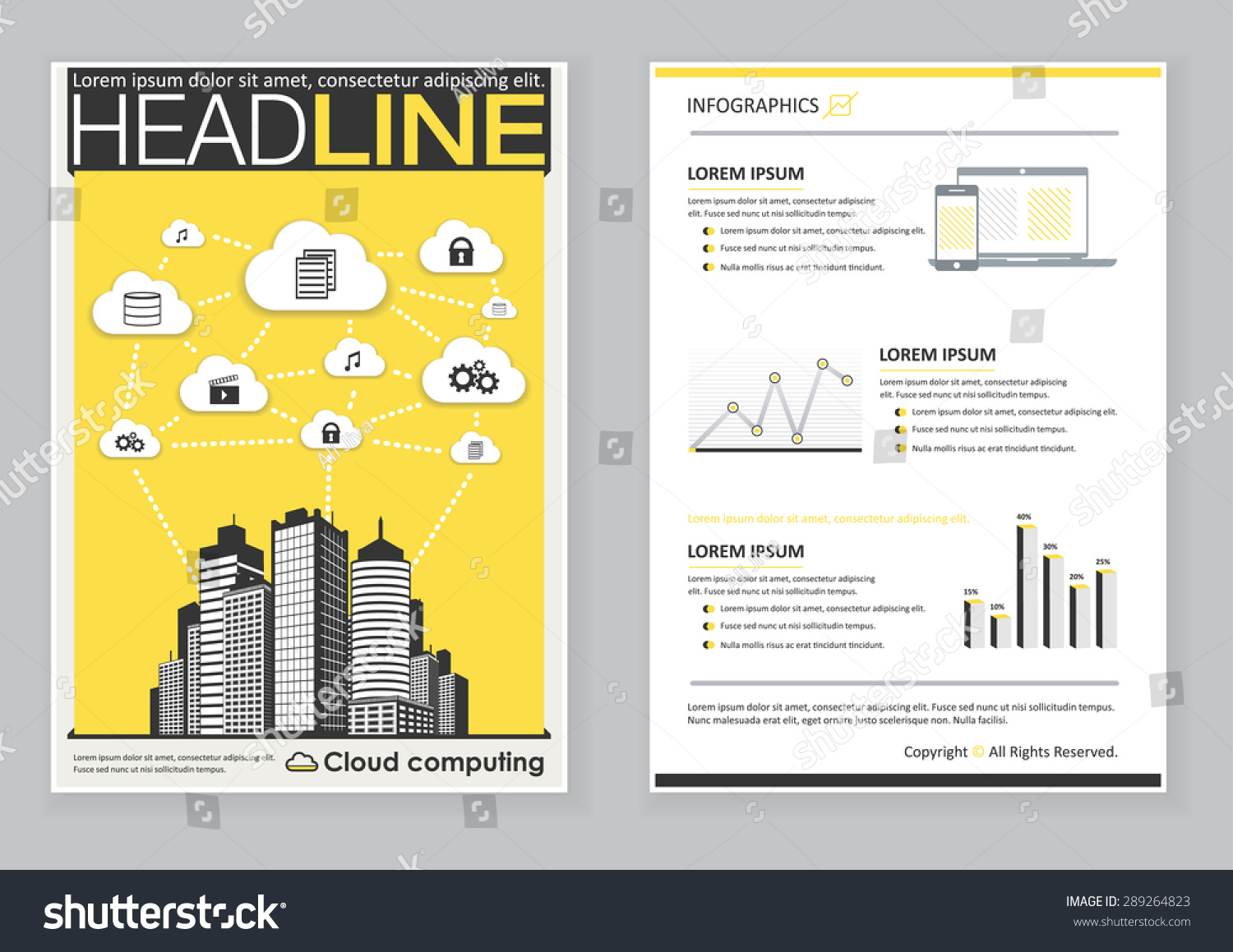 creative brochure template design infographic chart stock vector creative brochure template design infographic chart cloud computing abstract vector flyer pamphlet