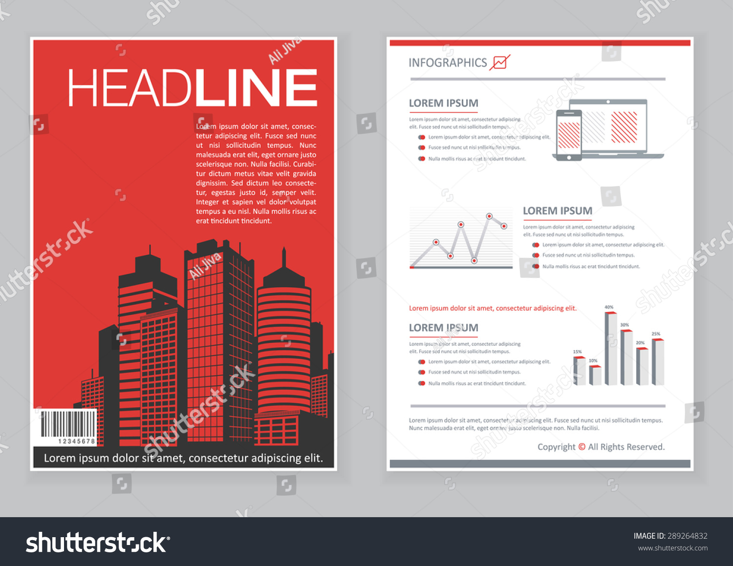 Creative brochure template design infographic chart stock for Infographic brochure template