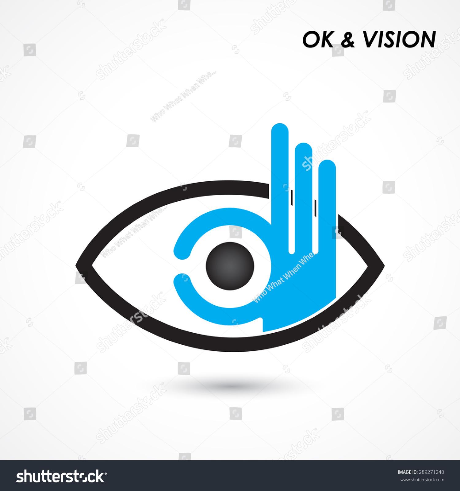 Ok Hand Eye Sign Business Vision Stock Vector 289271240 ...