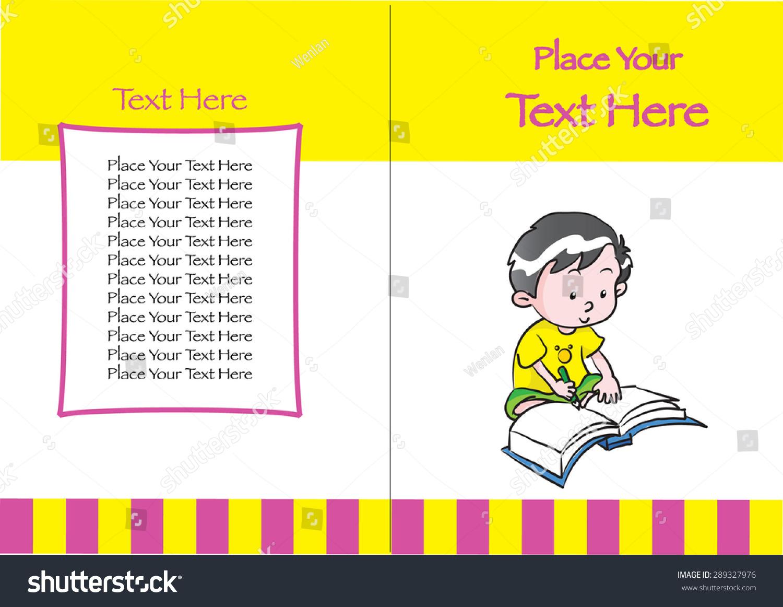 Children Book Cover Vector : Kids book cover design stock vector shutterstock