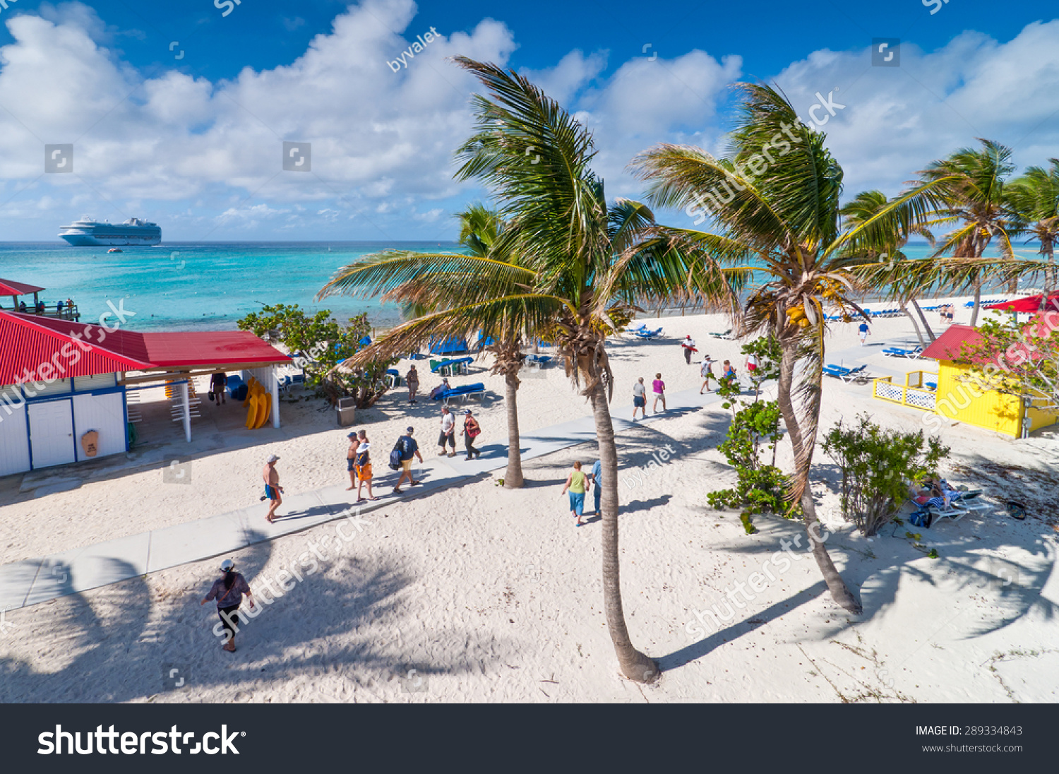 Eleuthera Bahamas December Tourists Enjoy Stock Photo - Bahamas in december