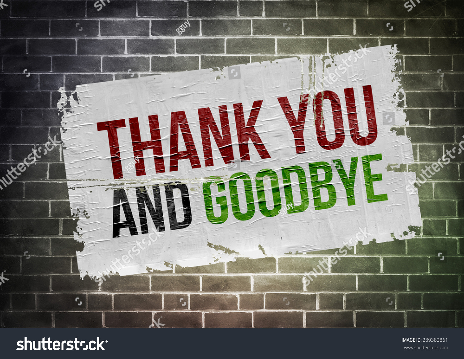 Thank You And Goodbye Stock Photo 289382861 : Shutterstock