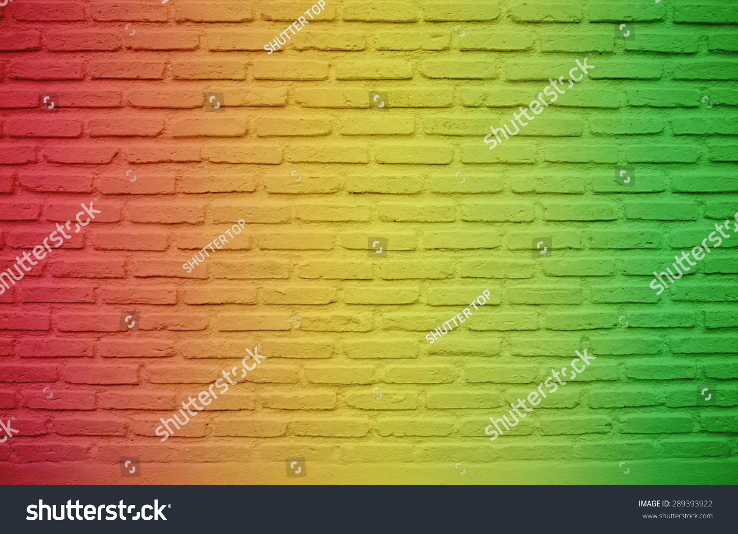 Royalty-free Colors of reggae music on brick wall… #289393922 Stock ...