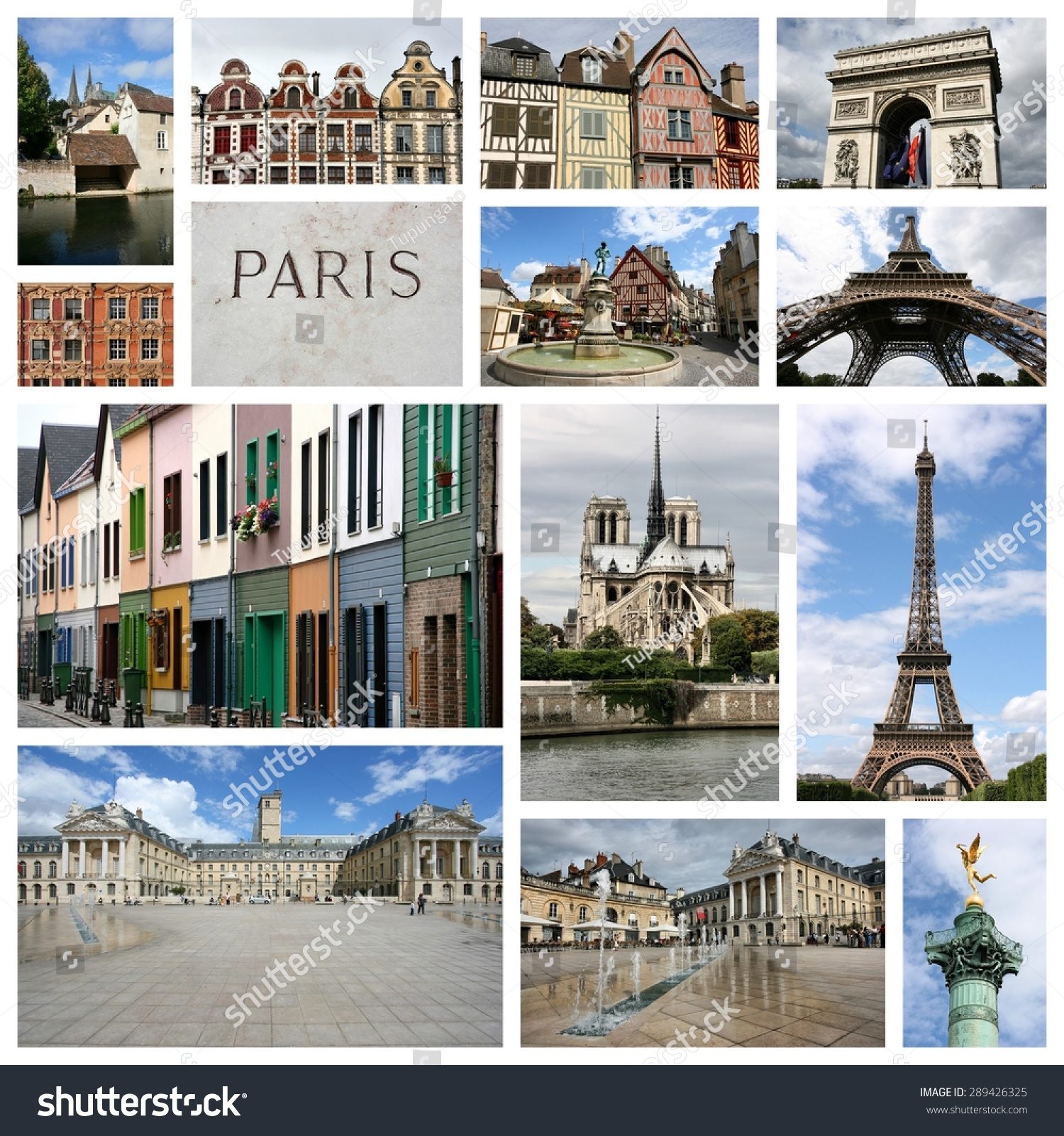 travel collage france collage includes famous stock photo. Black Bedroom Furniture Sets. Home Design Ideas