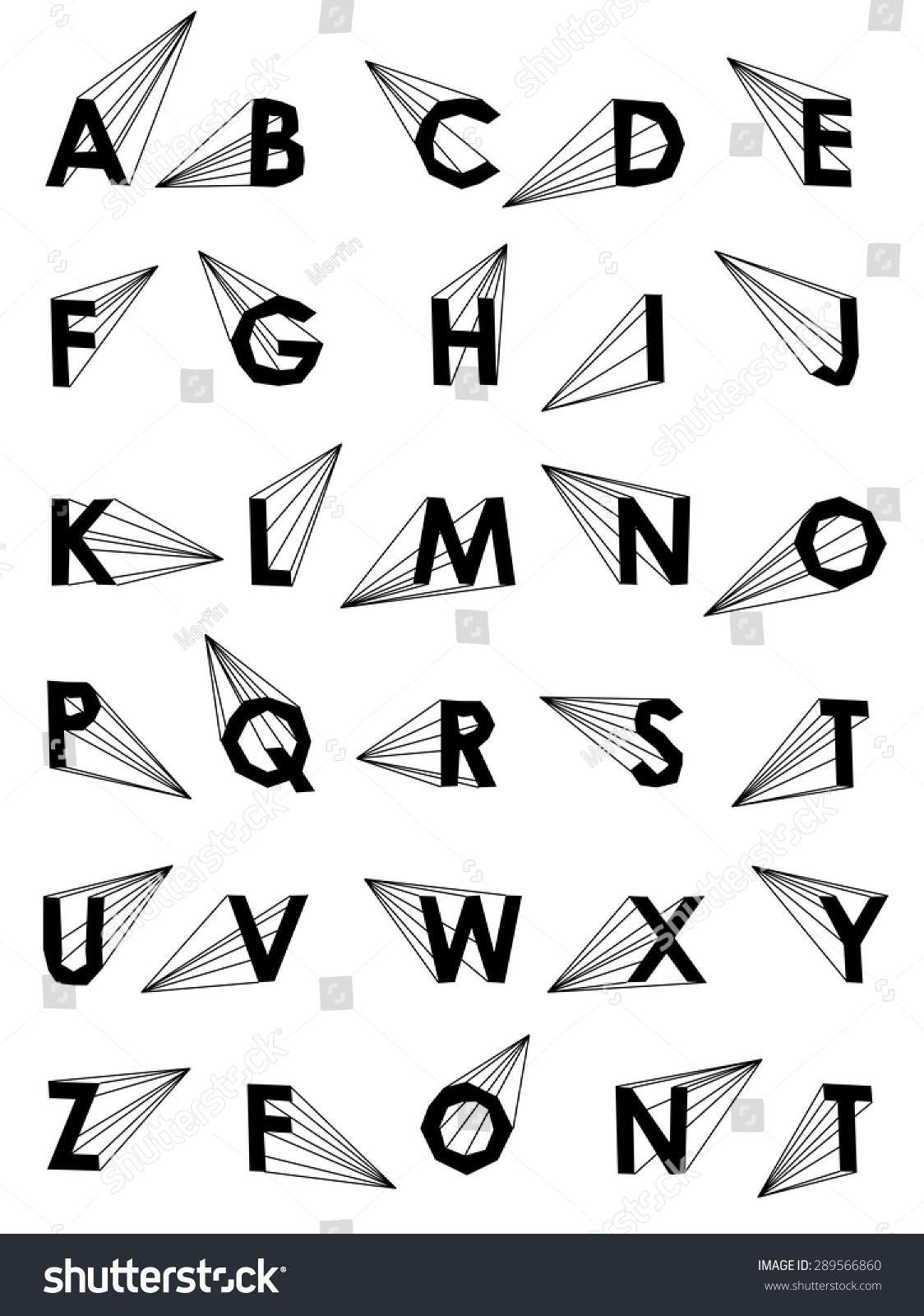 Wire Vector Low Poly Alphabet Font Creative Bubbles