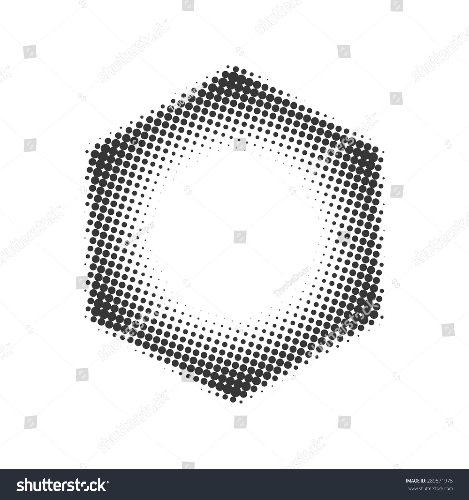 Hexagon Halftone Grey Hexagonal Frame Dots Stock Vector 289571975 ...