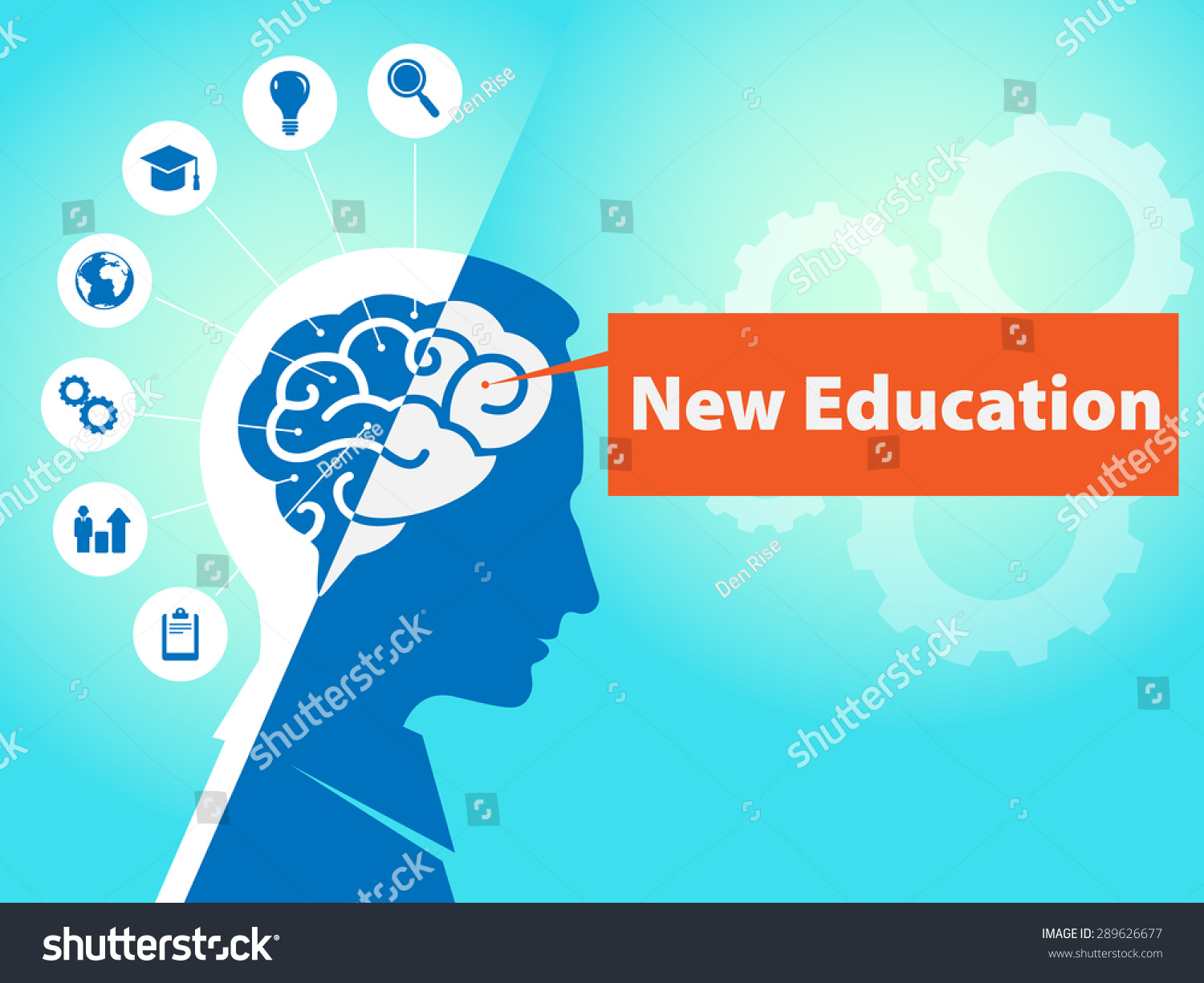 Brain icons business symbols text new stock illustration 289626677 brain with icons and business symbols and text new education 2d flat design business biocorpaavc Images