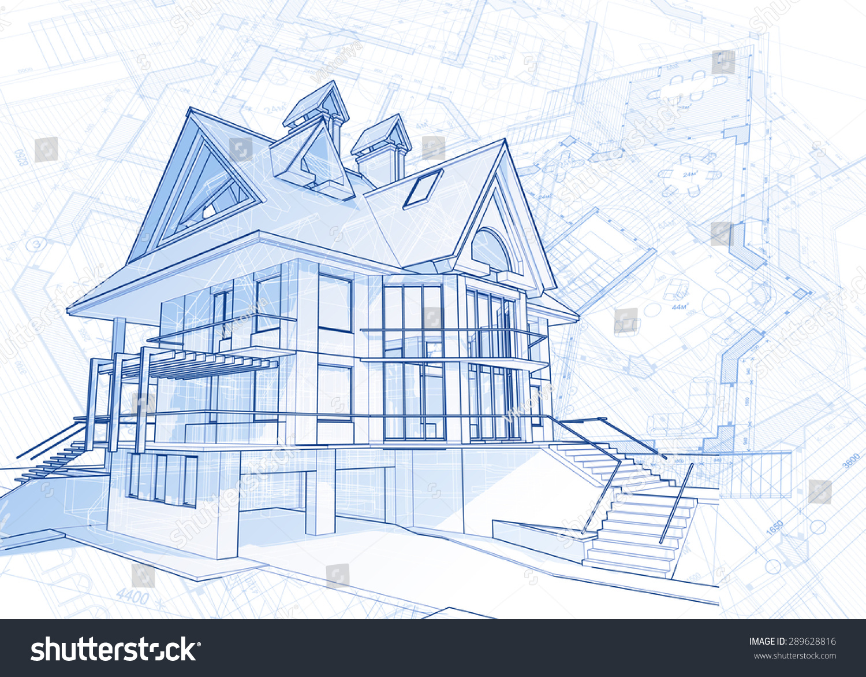 Architecture design blueprint house vector illustration vectores en architecture design blueprint house vector illustration malvernweather Choice Image
