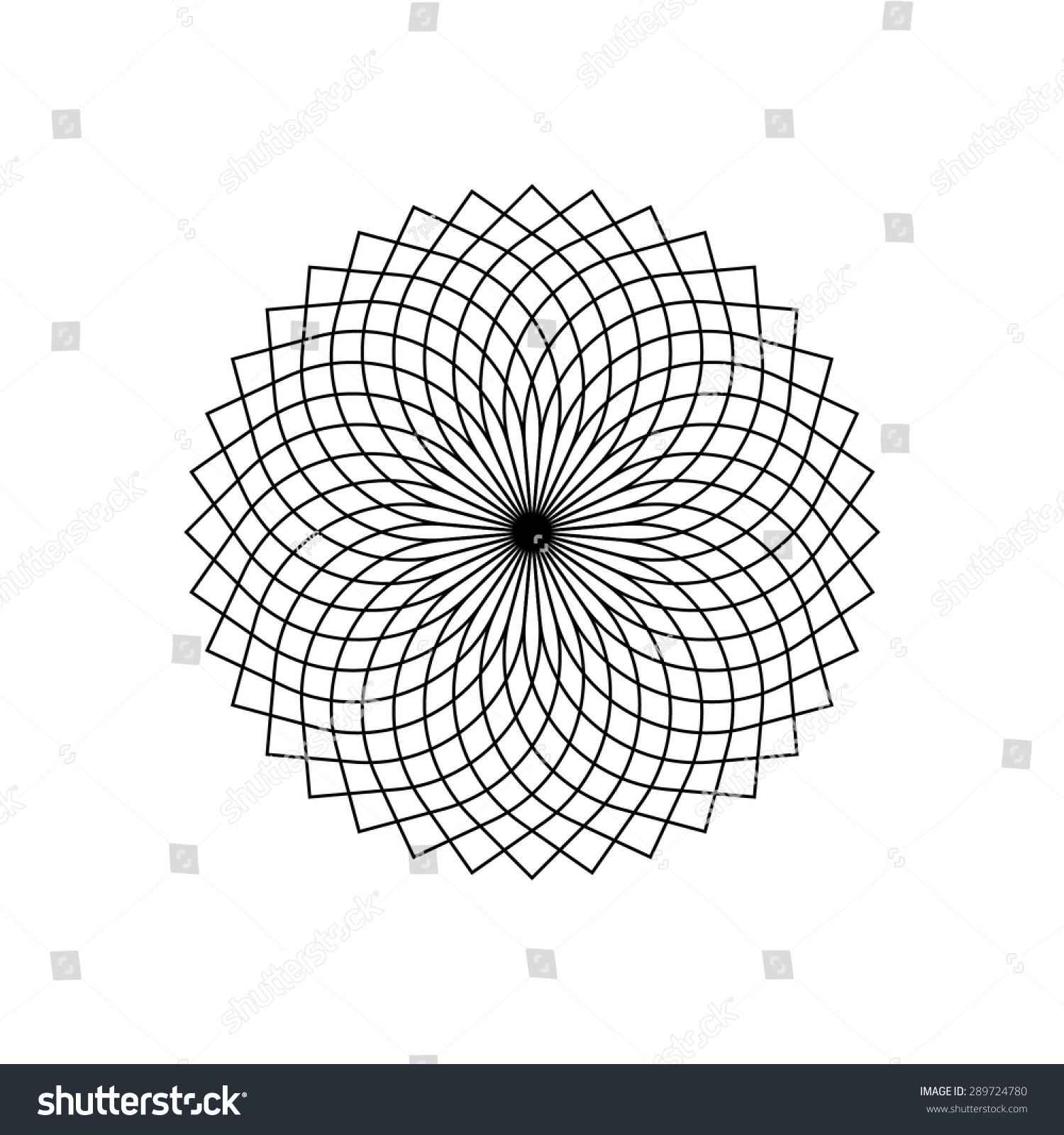 Geometric Logo Design Template Abstract Symbol Stock Vector ...