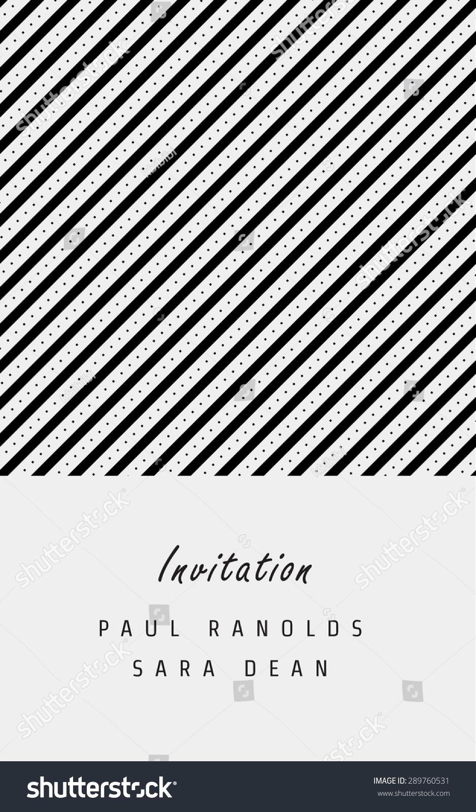 vector invitation card ticket monochrome geometric stock vector