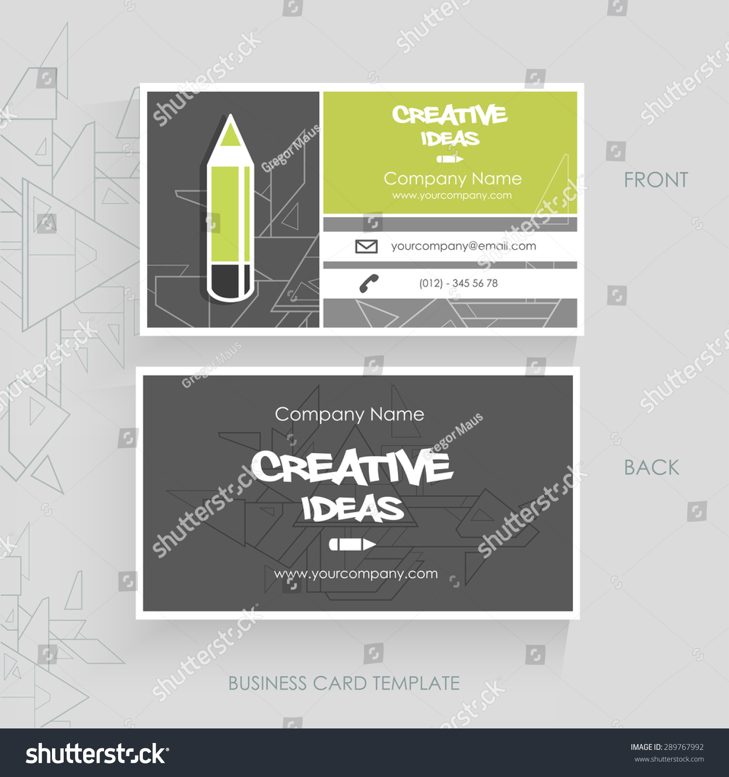 creative business card vector eps 10 stock vector