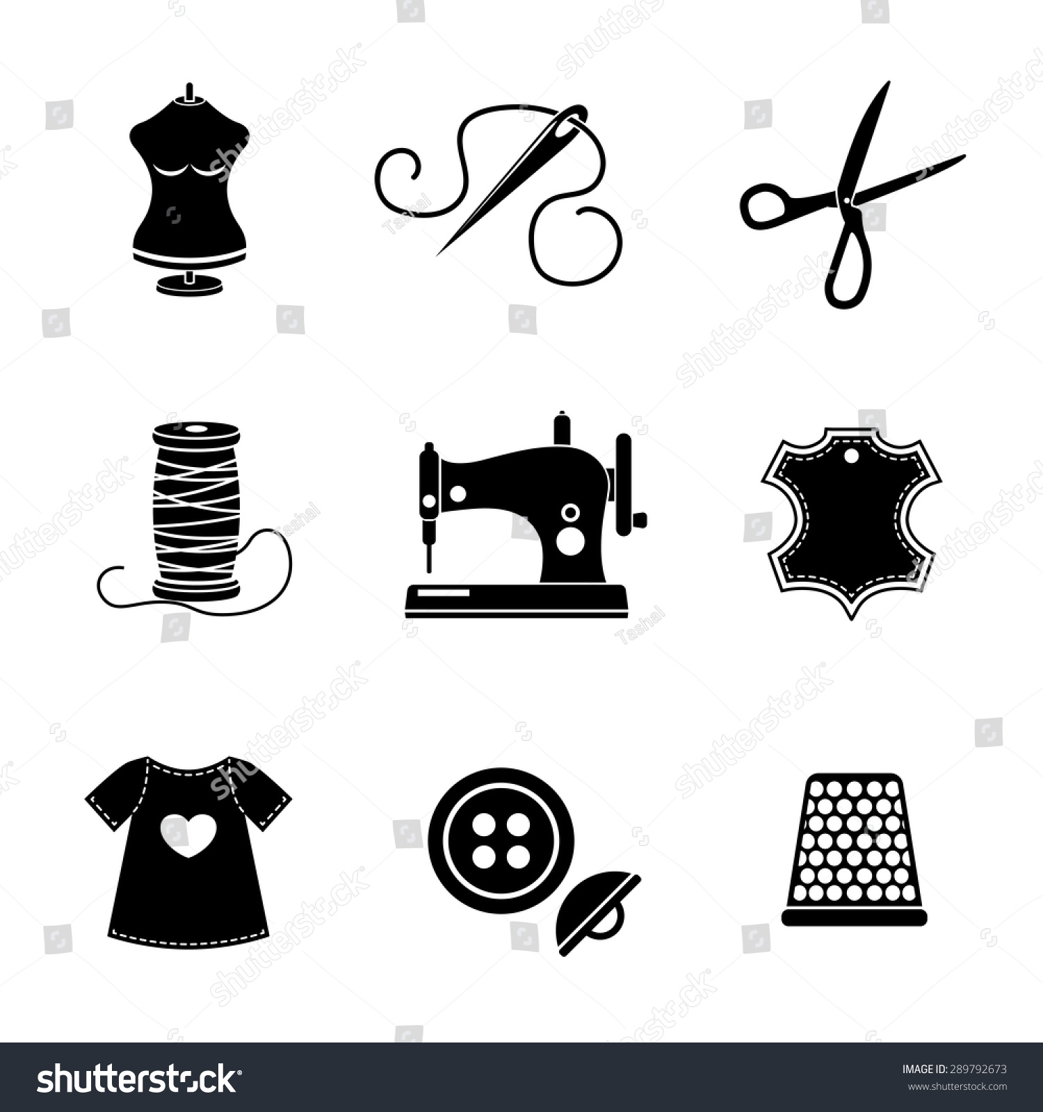 black sewing button clipart