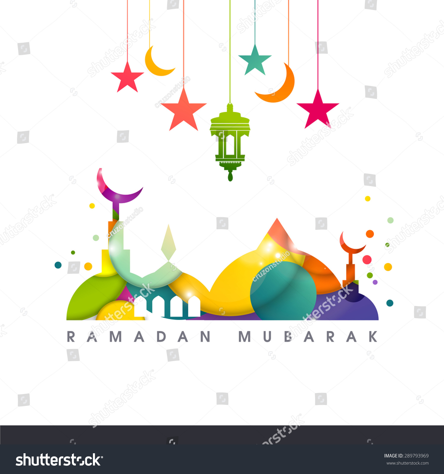 Vector colorful design for Eid and Ramdan kareem festival of Muslim community
