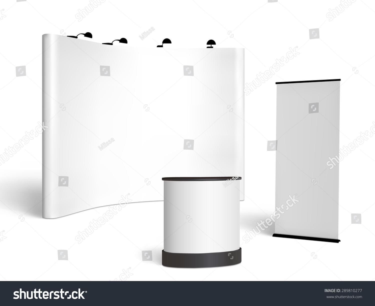 Exhibition Booth Blank : Blank trade show booth mock up stock vector
