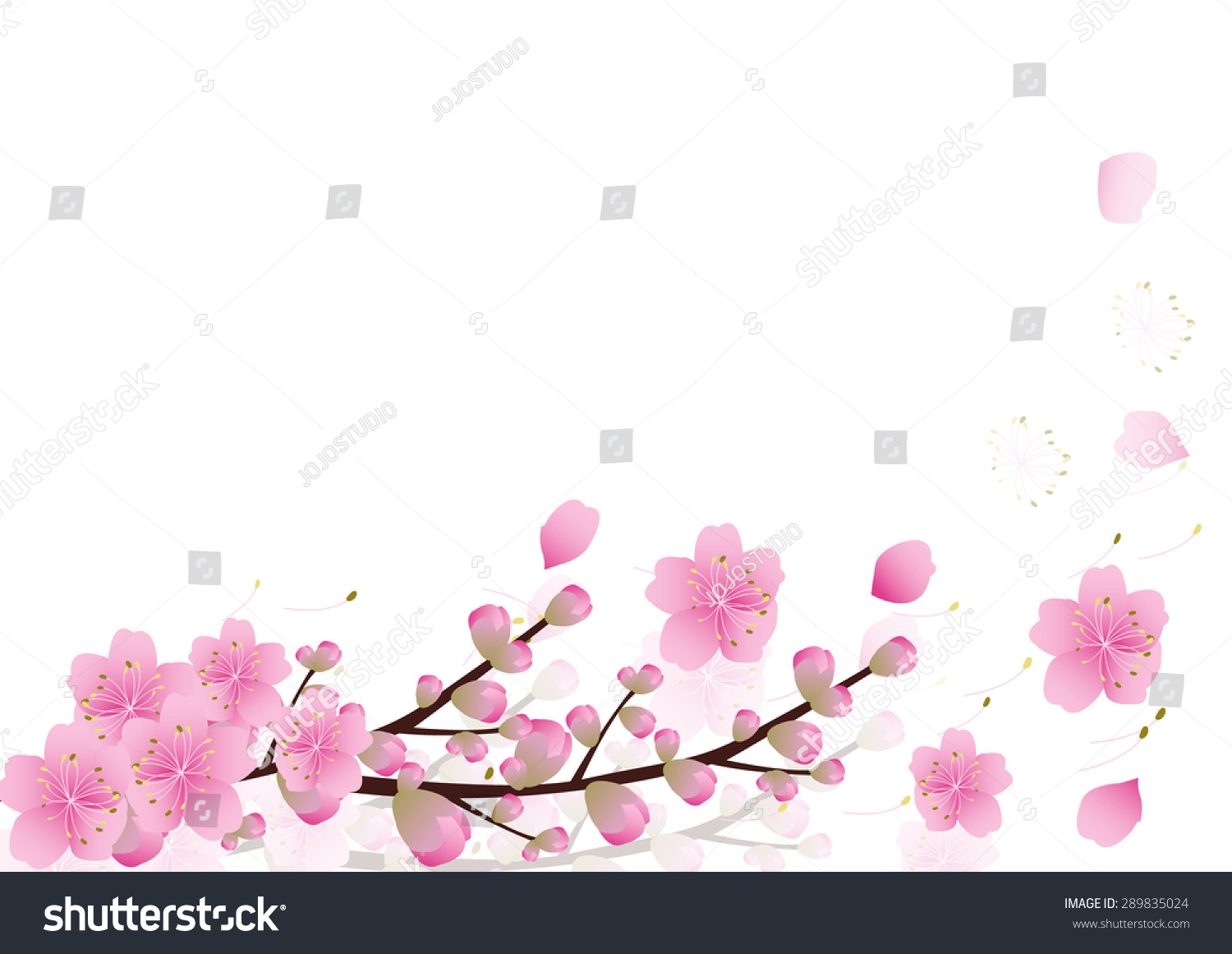Royalty Free Pink Flowers Spring Background 289835024 Stock
