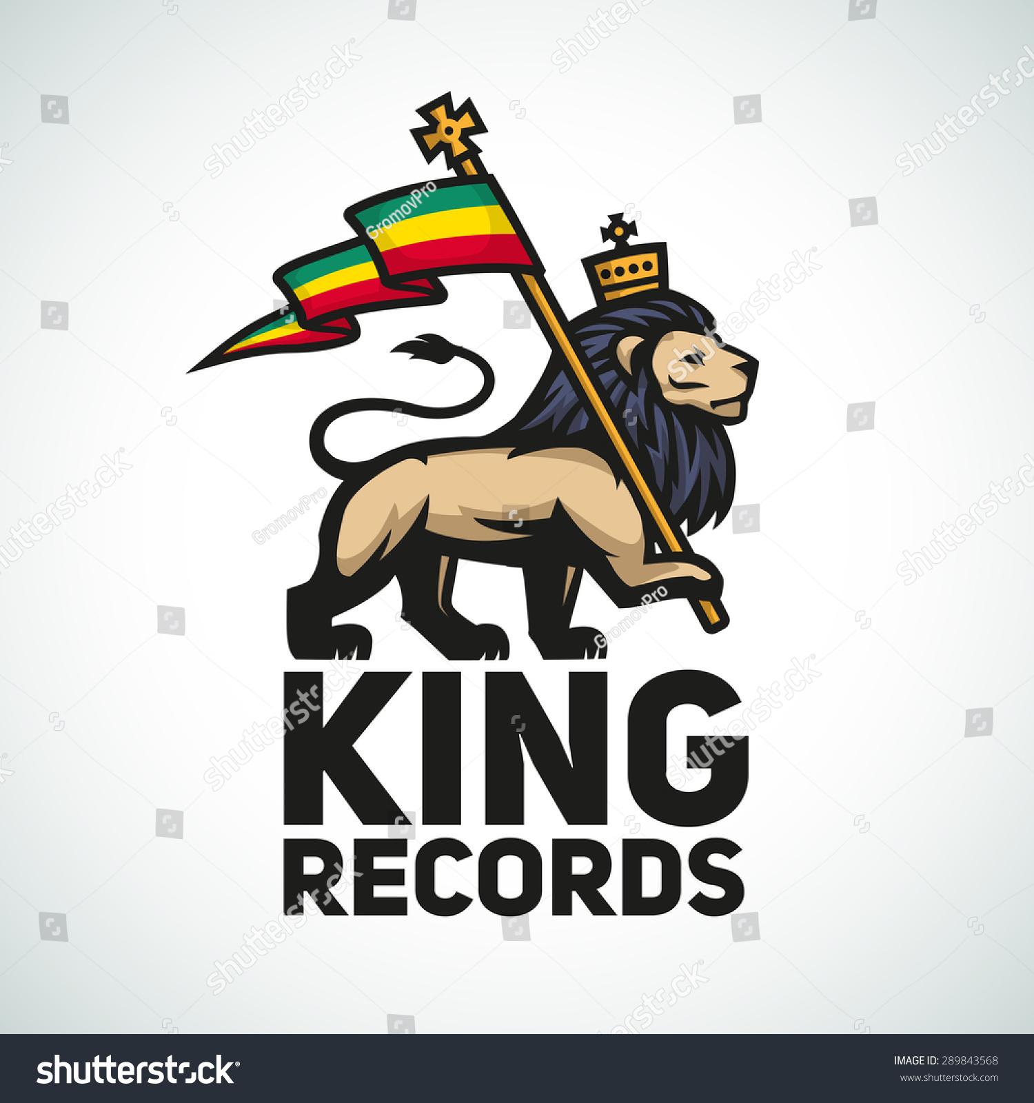 Judah lion rastafari flag king zion stock vector 289843568 judah lion with a rastafari flag king of zion logo illustration reggae music vector biocorpaavc Image collections