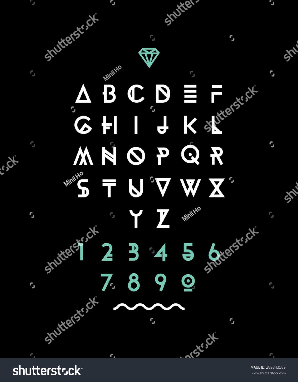 Hipster Font Typeface Typography Typewriter Poster Stock