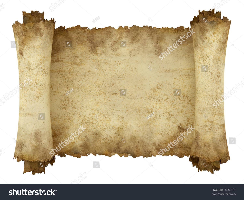 Manuscript Horizontal Burnt Rough Roll Parchment Stock ...