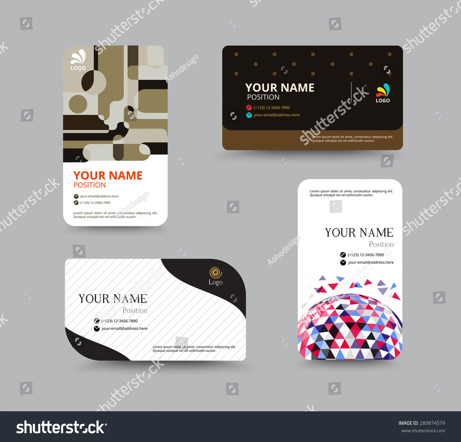 Business Card Template Business Card Layout Stock Vector 289874579 ...