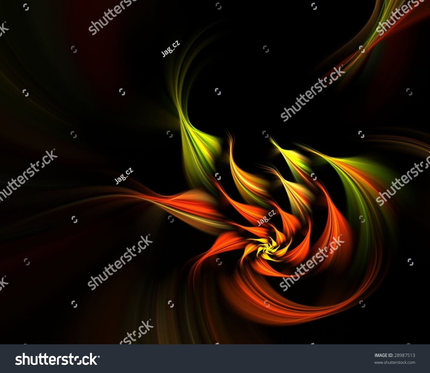 exotic flower on the black background stock photo 28987513