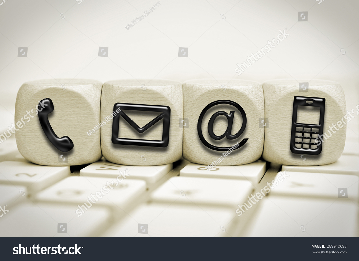 Black Contact Us Symbols On Cubes Stock Photo Edit Now 289910693