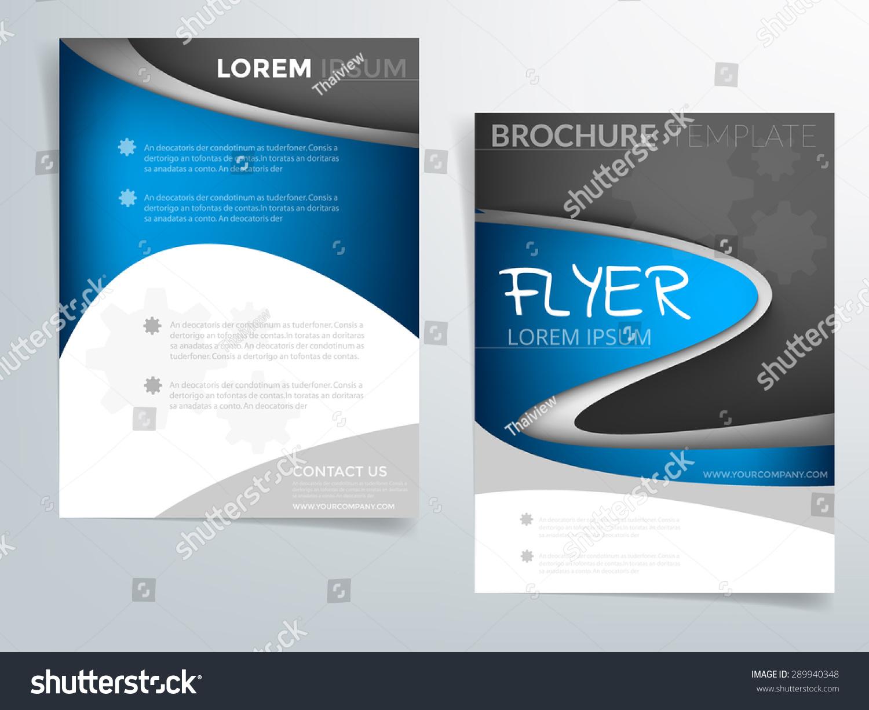 brochure background templates - blue curve brochure template vector background stock