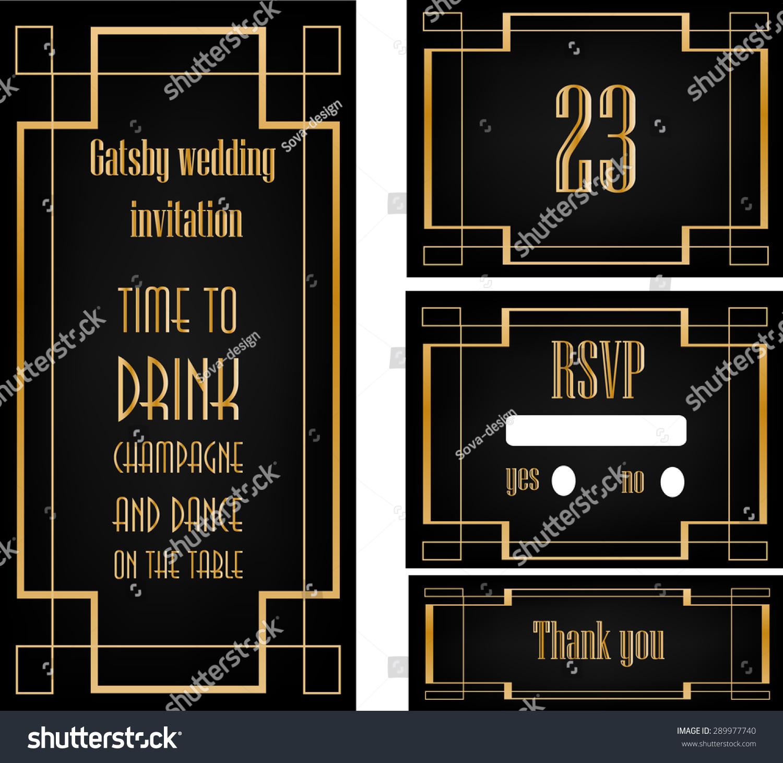 Art Deco Great Gatsby Wedding Theme Stock Vector (Royalty Free ...